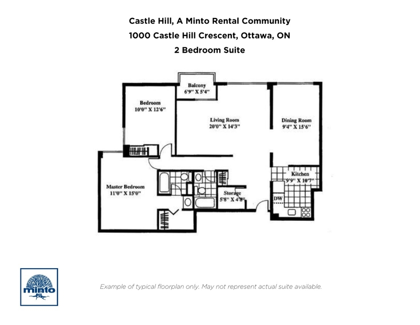 1000 Castle Hill Cres, OTTAWA , ON : 2 Bedroom for rent ...